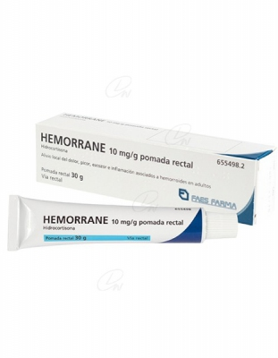 HEMORRANE 10 mg/g POMADA RECTAL, 1 tubo de 30 g