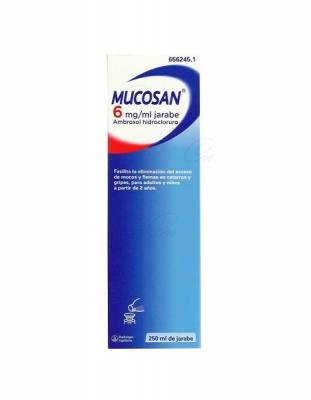 MUCOSAN 6 mg/ ml JARABE, 1 frasco de 250 ml
