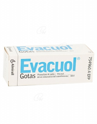 EVACUOL 7,5 mg/ml Gotas orales en solución, 1 frasco de 30 ml