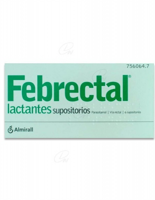 FEBRECTAL LACTANTES 150 mg SUPOSITORIOS, 6 supositorios