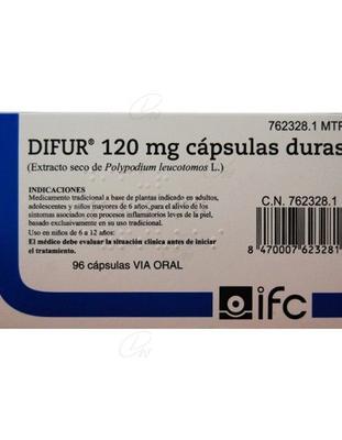 DIFUR 120 mg CAPSULAS DURAS, 96 cápsulas
