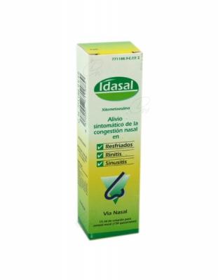 IDASAL 1mg/ml SOLUCION PARA PULVERIZACION NASAL, 1 frasco de 15 ml