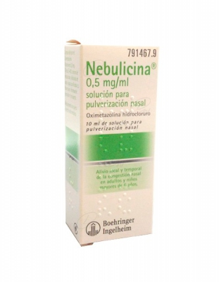 NEBULICINA 0,5 mg/ml SOLUCIÓN PARA PULVERIZACIÓN NASAL, 1 envase pulverizador de 10 ml