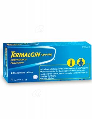 TERMALGIN 500 mg COMPRIMIDOS, 20 comprimidos