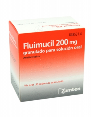 FLUIMUCIL 200 mg GRANULADO PARA SOLUCION ORAL, 30 sobres