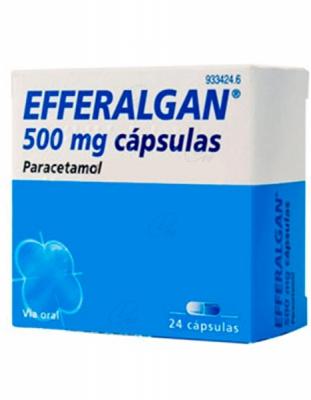 EFFERALGAN 500 mg CAPSULAS, 24 cápsulas