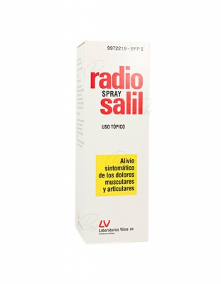 RADIO SALIL SPRAY SOLUCION PARA PULVERIZACION CUTANEA, 1 envase a presión de 130 ml