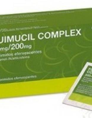 FLUIMUCIL COMPLEX 500 mg/200 mg COMPRIMIDOS EFERVESCENTES, 12 comprimidos
