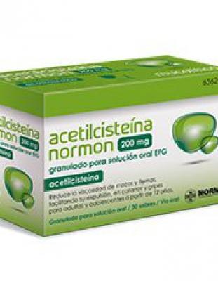 Acetilcisteína 200mg normon