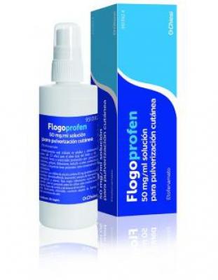 FLOGOPROFEN 50 mg/ml SOLUCION PARA PULVERIZACION CUTANEA, 1 frasco de 100 ml