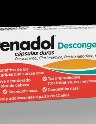 FRENADOL DESCONGESTIVO CAPSULAS DURAS, 6 cápsulas