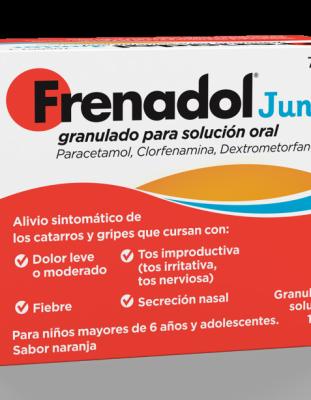 FRENADOL JUNIOR GRANULADO PARA SOLUCION ORAL, 10 sobres
