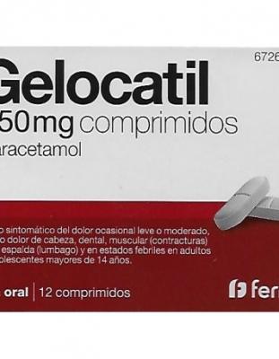 GELOCATIL 650 mg COMPRIMIDOS, 12 comprimidos